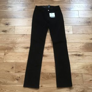 Calvin Klein stretch straight leg velvet pants